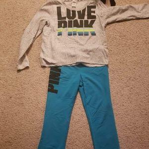 PINK sweatshirt & pants